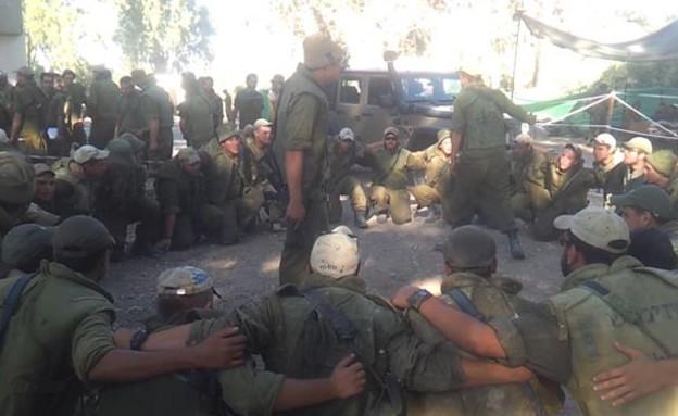"""כוחות צה""""ל בשטחי היערכות (תמונת AVI: שי לוי)"""
