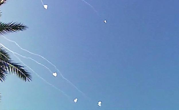 יירוט מעל אשקלון (צילום: חדשות 2)