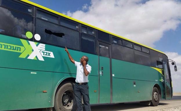 """האוטובוס שנפגע (צילום: מד""""א)"""