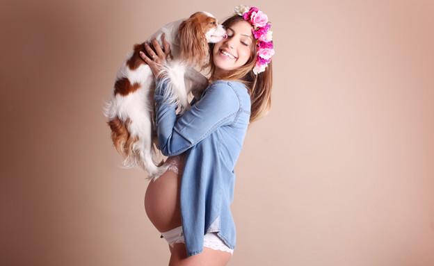 צילומי היריון עם כלבים (צילום: מירית קרמן, מערכת מאקו הורים)