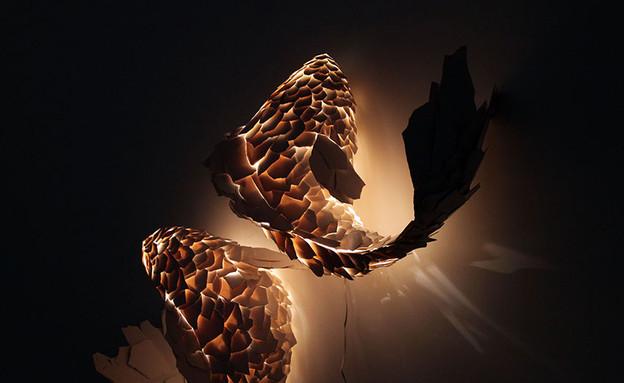 נרות ונברשות, דגים (צילום: gagosian)
