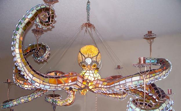 נרות ונברשות, נברשת תמנון (צילום: masonscreations)