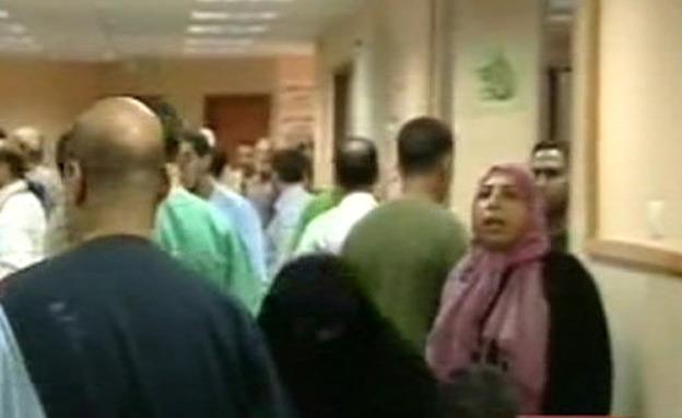 בית חולים בעזה (צילום: חדשות 2)
