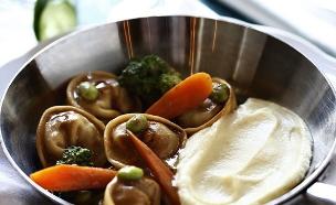 טורטליני לחי עגל, מסעדת טוטו (צילום: אפיק גבאי, אוכל טוב)