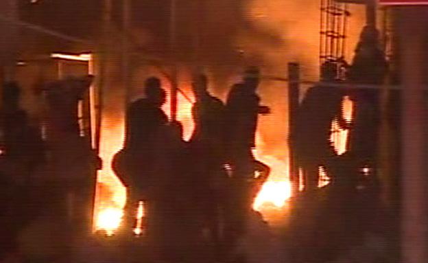 מהומות בקלנדייה (צילום: חדשות 2)