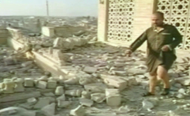 הריסות קבר יונה בעיראק (צילום: חדשות 2)