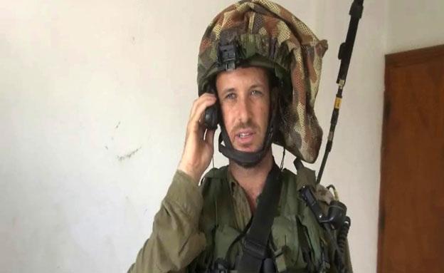 """שיחה עם סא""""ל ברק, מפקד גדס""""ר נח""""ל (צילום: חדשות 2)"""