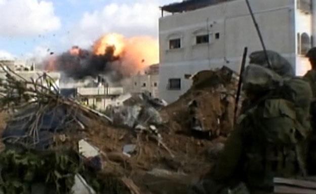 צפו בתיעוד מתוך הקרבות בבית חנון (צילום: חדשות 2)