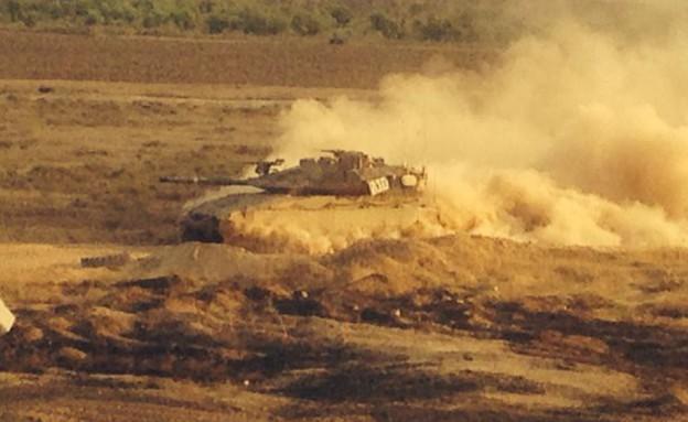 """טנק ברצועת עזה (צילום: שי לוי, פז""""ם)"""