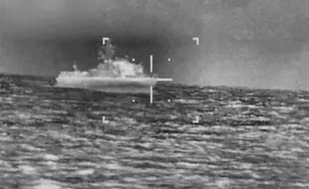 """תיעוד תקיפות חיל הים מזווית הטיל (צילום: דו""""צ)"""