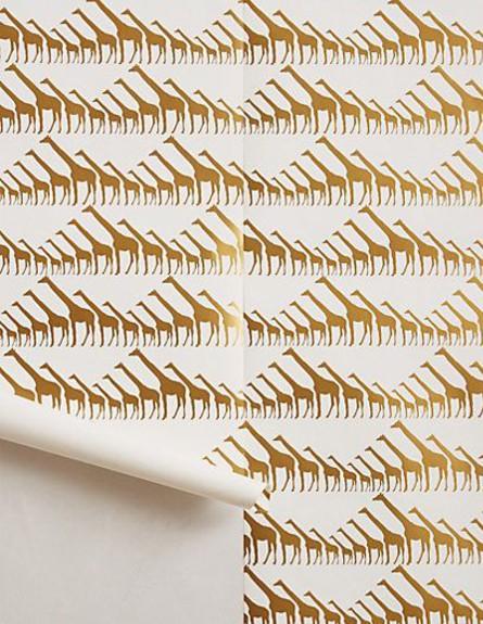 הכל זהב, טפט ג'ירפות, ANTHROPOLOGIE (צילום: ANTHROPOLOGIE)