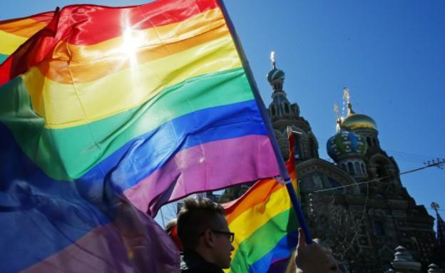 מצעד הגאווה בסנט פיטרסבורג (צילום: Queerussia.com)