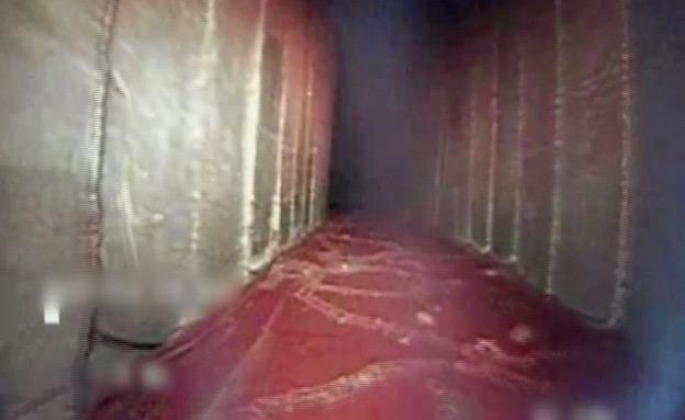 """צפו במבט אל תוך המנהרה - והשמדתה (צילום: דובר צה""""ל)"""