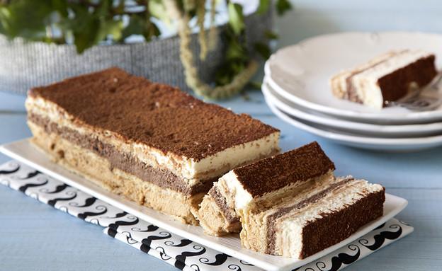 עוגת ביסקוויטים בשלושה צבעים (צילום: אסף אמברם, אוכל טוב)