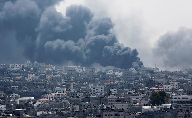 פיצוץ בסג'עייה (צילום: AP)