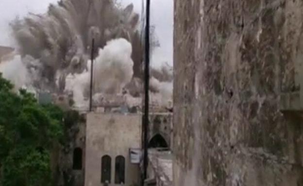 פיצוץ המלון בחאלב, מאי האחרון (צילום: רויטרס)