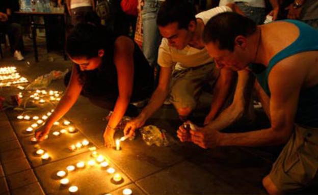 שנה לרצח בברנוער (צילום: RTR)