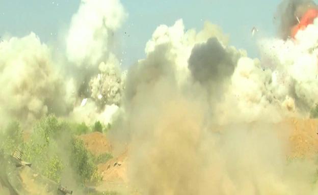 """צפו: פיצוץ בית ממולכד ברצועה (צילום: דובר צה""""ל)"""