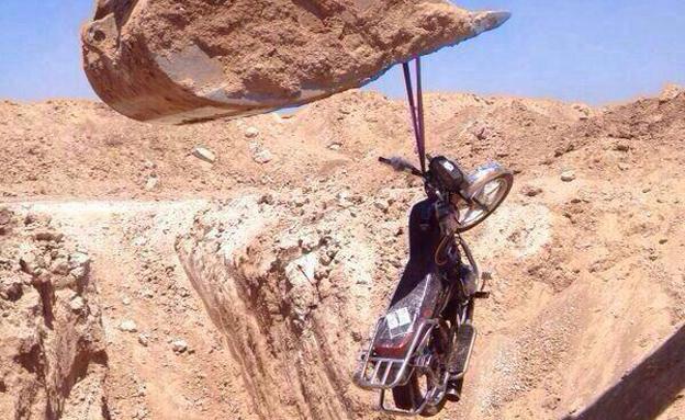 אופנועי החוטפים (צילום: חדשות 2)
