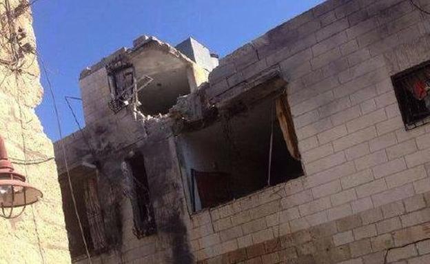הבית שנפגע ליד בית לחם