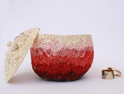 אחסון תכשיטים, 05 קופסת תכשיטים מנייר בעבודת יד (צילום: שרי וורטמן)