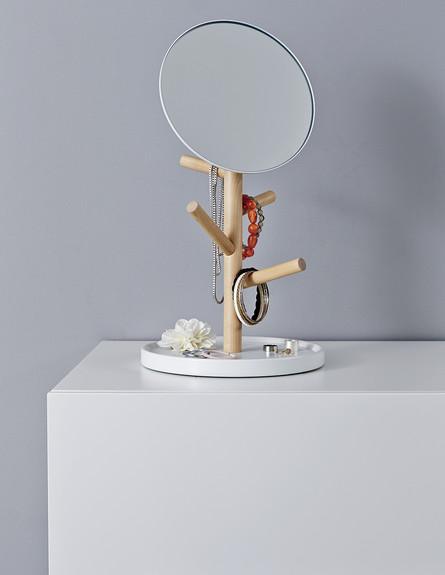 אחסון תכשיטים, גובה, 12 מראת שולחן משולבת עם מעמד  (צילום: יחצ איקאה)