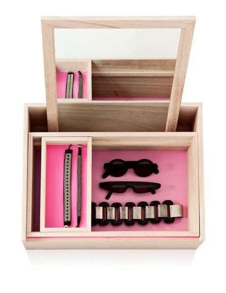 אחסון תכשיטים, גובה, 16 קופסת עץ מסוגננת ומעוצבת