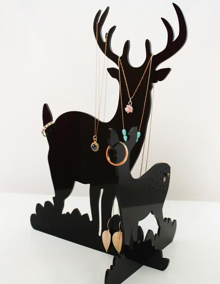 אחסון תכשיטים, גובה, מתלה צבי מינימליסטי ואלגנטי,  (צילום: קרן בר)