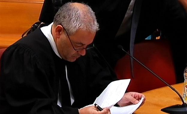 פישר בבית המשפט, היום (צילום: חדשות 2)