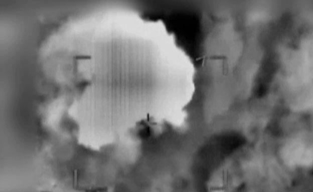 """צפו: חיל האוויר תוקף יעדי שיגור (צילום: דובר צה""""ל)"""