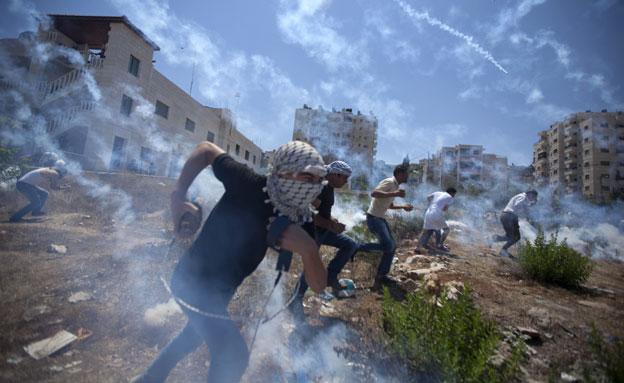 ההפגנות היום בחברון (צילום: AP)