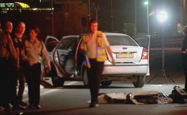 זירת הרצח, בשנה שעברה (צילום: חדשות 2)