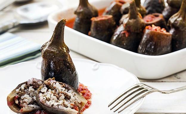 חצילונים ממולאים באורז ובשר ברוטב עגבניות (צילום: אסף אמברם, אוכל טוב)