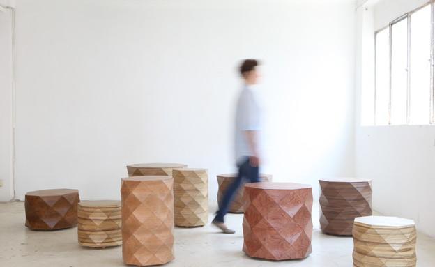זוגות, טסלר מנדלוביץ, סדרת יהלומי עץ (צילום: רוני כנעני)