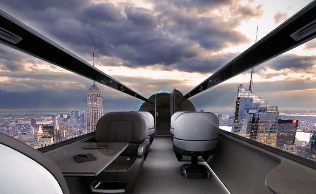 מטוס שקוף נוף (צילום: צילום מסך)