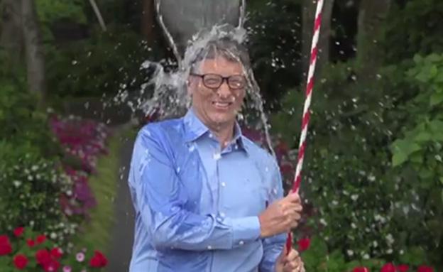 """ביל גייטס באתגר """"דלי הקרח"""""""