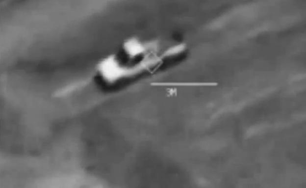 """צפו: ארה""""ב מפציצה משאית של דאעש (צילום: יוטיוב)"""
