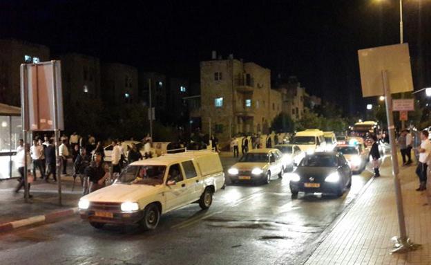 הפגנת פעילי ימין בירושלים (צילום: אהרון והב)