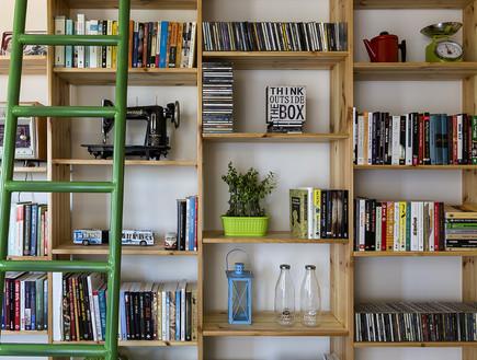 ענבל צלקה, ספרייה  (צילום: נדב פקט)