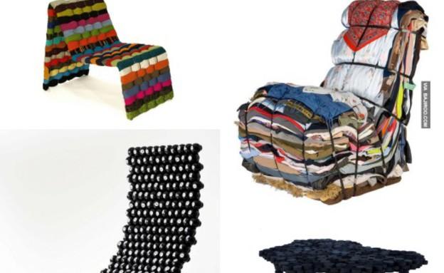 רהיטים ממוחזרים קולאז