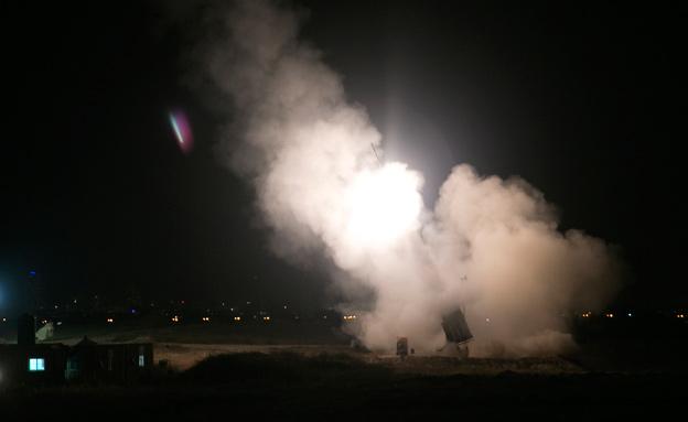 כיפת ברזל, אשדוד (צילום: חדשות 2)