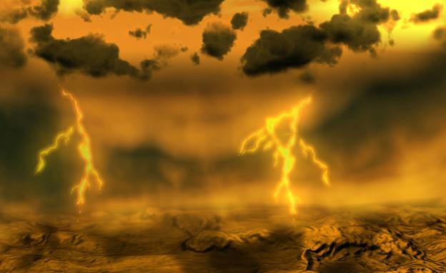 """גשם מחומצה גופרתית. כוכב נגה (צילום: נס""""א)"""