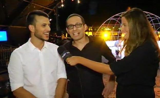 אסי וארז בראיון לאחר השידור (תמונת AVI: עדי רם)