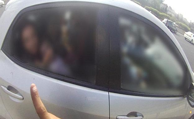 צפו במכונית העמוסה (צילום: חדשות 2)