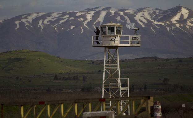 """עמדת פיקוח של האו""""ם ברמת הגולן (צילום: ap)"""