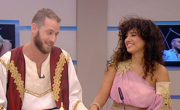 אלדד וקארין בראיון זוגי (תמונת AVI: מתוך מה אתם אומרים, שידורי קשת)