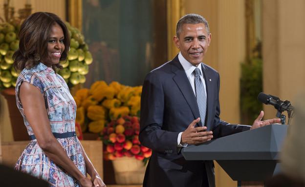 ג'ואן ריברס - ברק ומישל אובמה  (צילום: Kevin Dietsch, GettyImages IL)