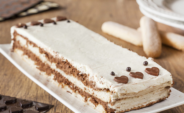 עוגת מוס שוקולד וביסקוטי (צילום: אסף אמברם, אוכל טוב)
