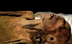 מומיה צורחת (צילום: National Geographic Society\EGYPTIAN MINISTRY OF ANTIQUITIES)