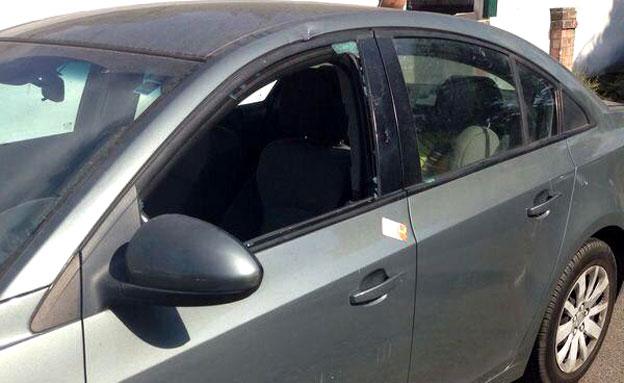 רכב בו נמצא תינוק נטוש (צילום: חדשות 2)